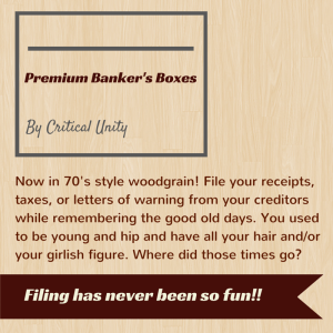 Mocketing - Banker's boxes