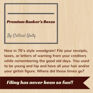 Mocketing - Banker's boxes
